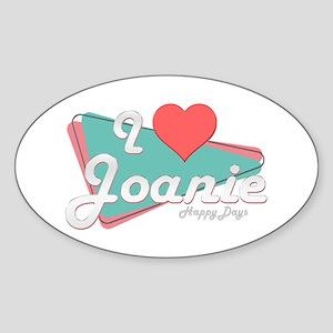 I Heart Joanie Oval Sticker
