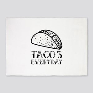 Tacos Everyday 5'x7'Area Rug