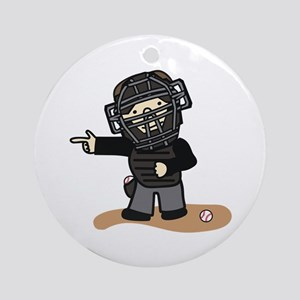 Umpire Boy Ornament (Round)