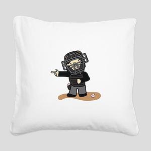 Umpire Boy Square Canvas Pillow