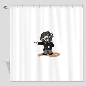 Umpire Boy Shower Curtain