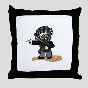 Umpire Boy Throw Pillow