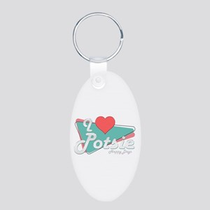 I Heart Potsie Aluminum Oval Keychain