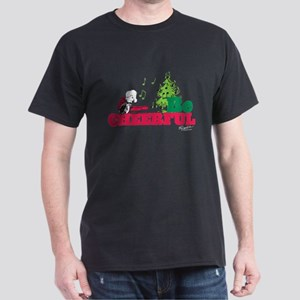 The Peanuts: Be Cheerful Dark T-Shirt