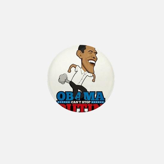 Obama Can't Stop Putin Pooting Farting Mini Button