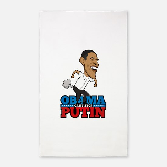 Obama Can't Stop Putin Pooting Fart 3'x5' Area Rug
