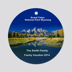 Grand Teton National Park Ornament (round)