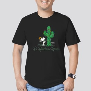 O Christmas Cactus Men's Fitted T-Shirt (dark)