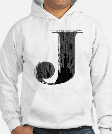 Grungy letter J Hoodie