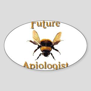 Future Apiologist 3 Oval Sticker