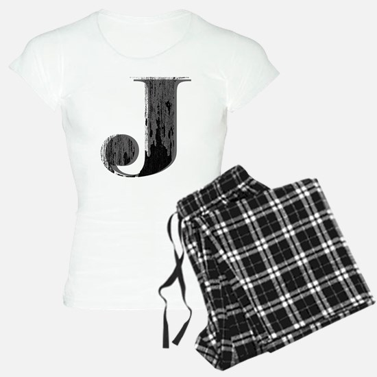 Grungy letter J Pajamas