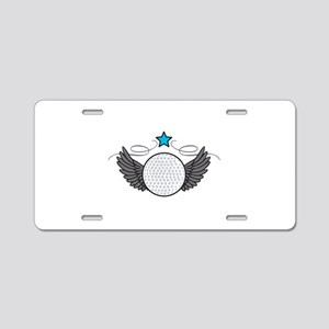 Winged Golf Ball Aluminum License Plate