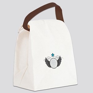 Winged Golf Ball Canvas Lunch Bag