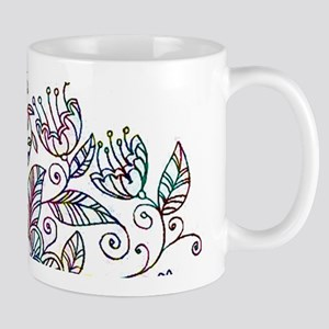 Colorful floral drawing Mugs