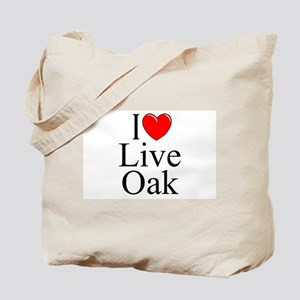 """I Love Live Oak"" Tote Bag"