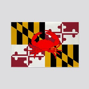 Maryland Crab Flag Rectangle Magnet
