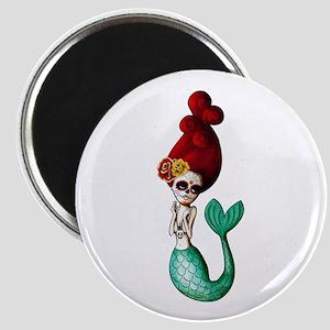 El Dia de Los Muertos Mermaid Magnets