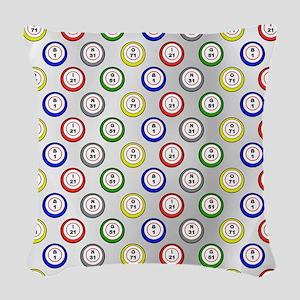Bingo Balls Light Woven Throw Pillow