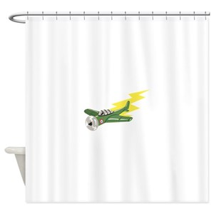 Small Plane Airplane Shower Curtain