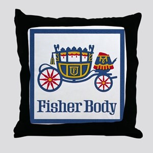 Fisher Body Throw Pillow