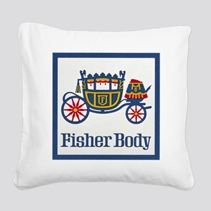 Fisher Body Square Canvas Pillow