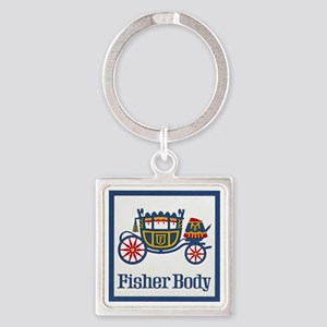 Fisher Body Square Keychain