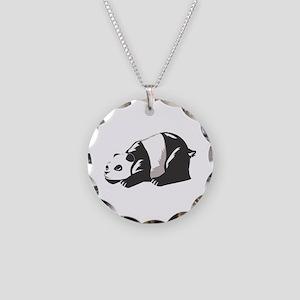 Laying Panda Bear Animal Necklace