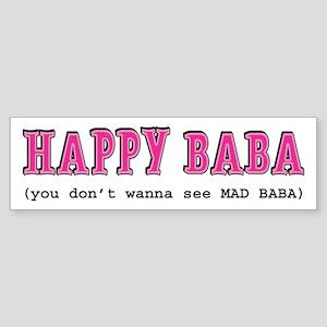 Happy Baba... Sticker (Bumper)