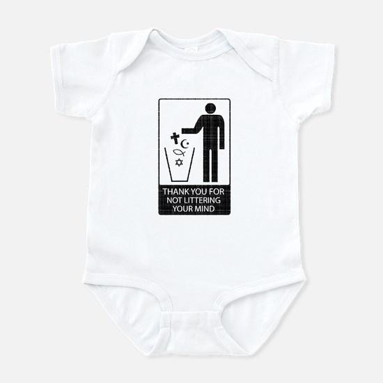 Anti-Religious (vintage look) Infant Bodysuit