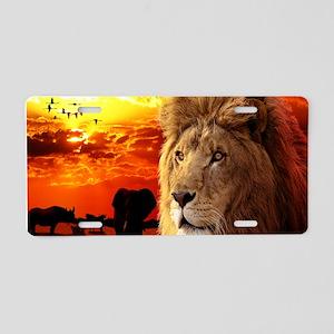 Lion King Aluminum License Plate