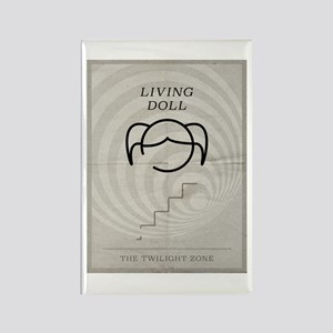 Living Doll Rectangle Magnet