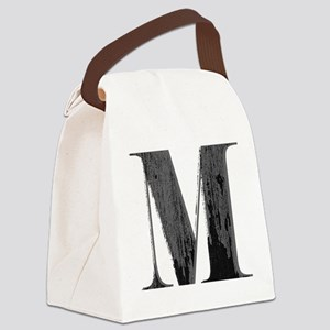 Vintage grungy letter M Canvas Lunch Bag