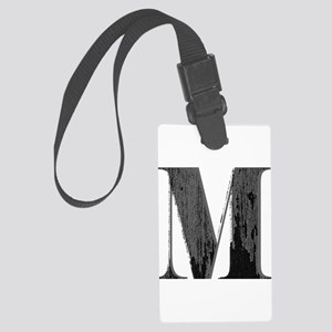 Vintage grungy letter M Luggage Tag