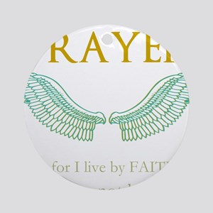 OYOOS Prayer Wing design Ornament (Round)