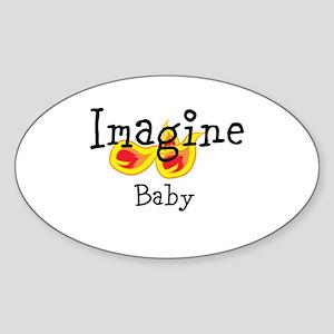 Imagine Baby Logo Design Line Sticker