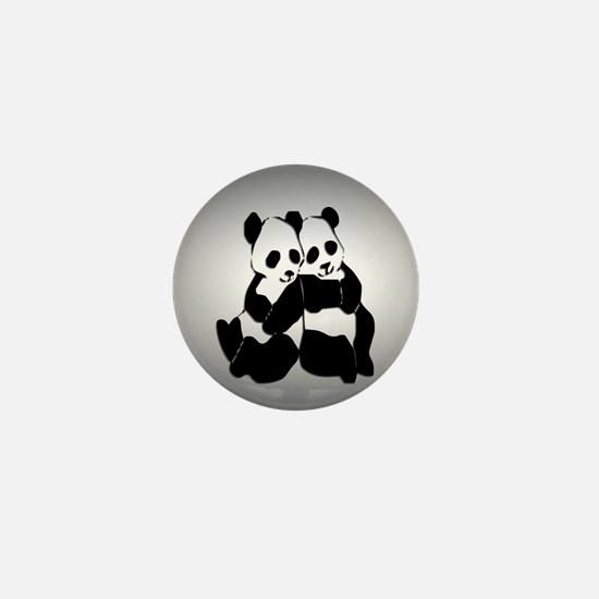 Cute Panda bear Mini Button