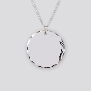 Outlined Arrow Circle Frame Necklace