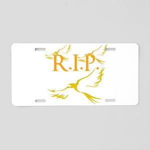 OYOOS R.I.P. design Aluminum License Plate