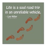 Soul Road Trip Square Car Magnet 3