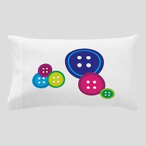 Misc Buttons Pillow Case