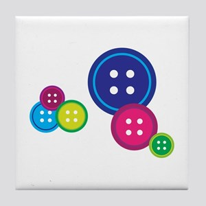 Misc Buttons Tile Coaster