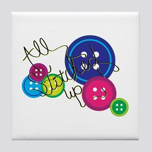 All Stitched Up Tile Coaster