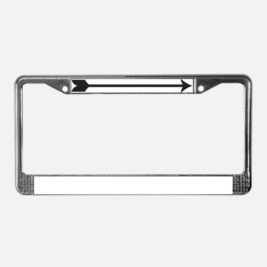 Black Arrow License Plate Frame