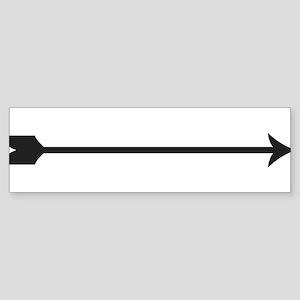 Black Arrow Bumper Sticker