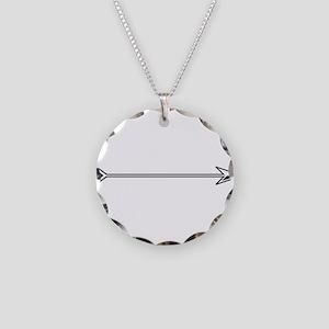 Black White Arrow Necklace