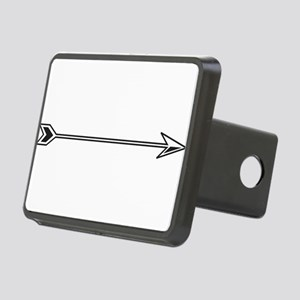 Black White Arrow Hitch Cover