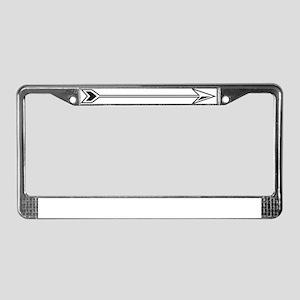 Black White Arrow License Plate Frame