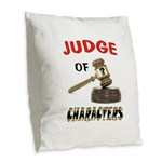 JUDGE Burlap Throw Pillow