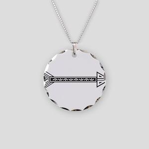 Black White Decorative Arrow Necklace