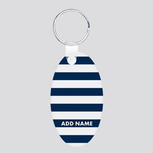 white navy rugby stripes Keychains